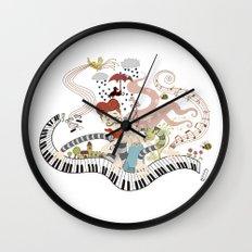 Love Piano Duet Wall Clock