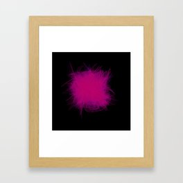 VHS Glitch Framed Art Print