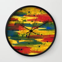 camo Wall Clocks featuring Camo by Dariush Nejad