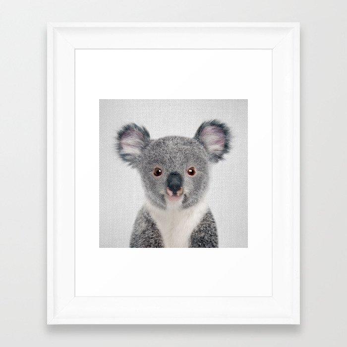 Baby Koala - Colorful Framed Art Print