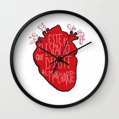 Este es el espacio que dejaste al marcharte (this is the space you left) Wall Clock