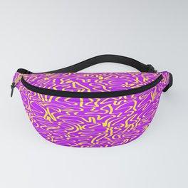 ribbon, yellow on purple Fanny Pack