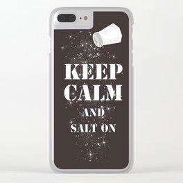 Keep Calm Salt Clear iPhone Case