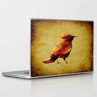 crow Laptop & iPad Skins featuring Crow by Ganech joe