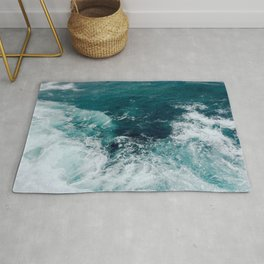 Ocean Waves (Teal) Rug