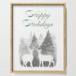 Happy Holidays Serving Tray