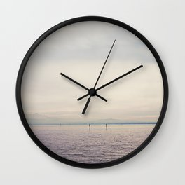 sunset along Lake Constance in Germany ... Wall Clock