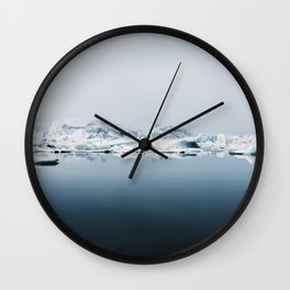 Ethereal Glacier Lagoon in Iceland - Landscape Photography Wall Clock