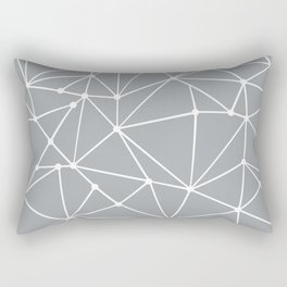 Ab Out Spots Grey Rectangular Pillow
