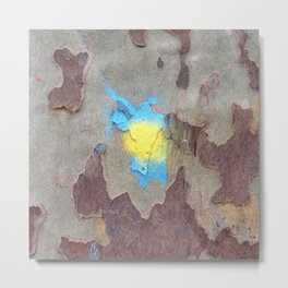 NVSV SPCS_yellow and blue blaze Metal Print