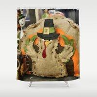 turkey Shower Curtains featuring Turkey Time by IowaShots