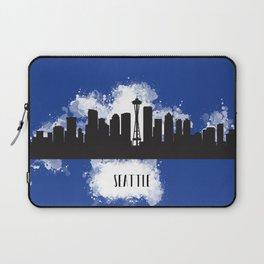 Seattle skyline silhouette Laptop Sleeve