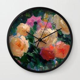 Roses & Fruits Wall Clock
