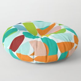 shapes abstract III Floor Pillow