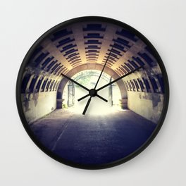 Tunnel's end Wall Clock