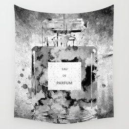Perfume Black and White Wall Tapestry