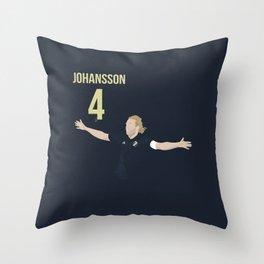 Nils-Eric Johansson - AIK Throw Pillow