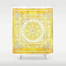 Golden Henna Mandala Shower Curtain