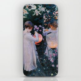 Carnation, Lily, Lily, Rose - John Singer Sargent iPhone Skin