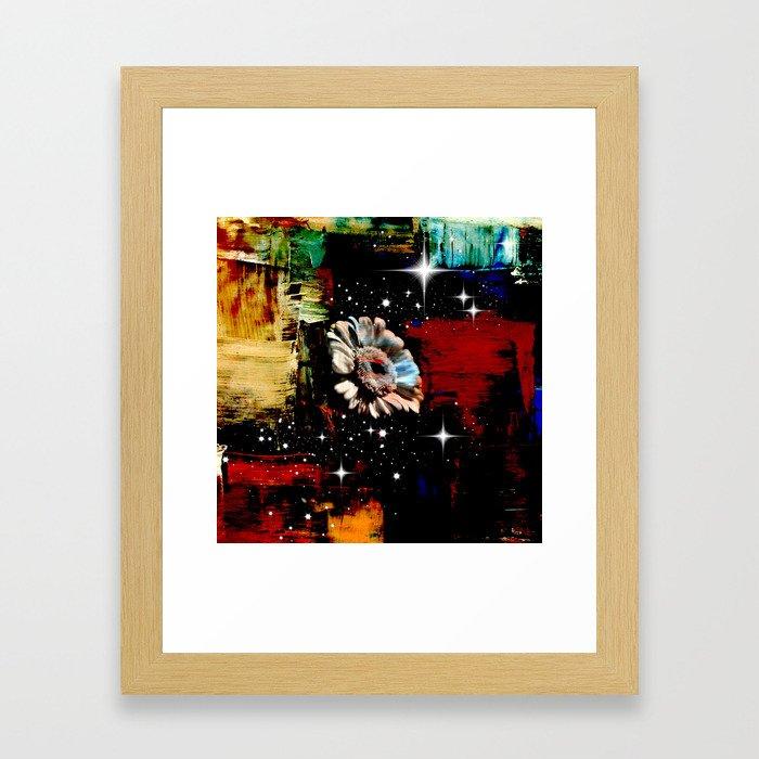 Flower In Space  Framed Art Print