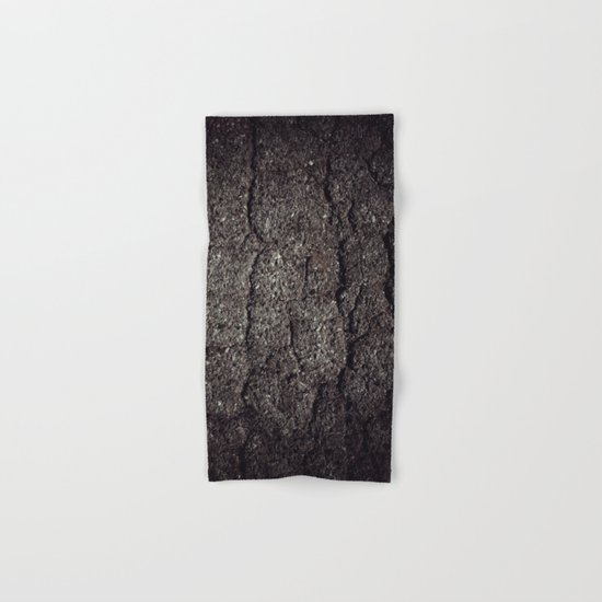 Cracked asphalt road Hand & Bath Towel