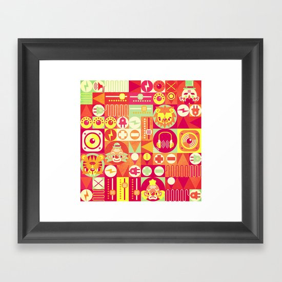 Electro Circus Framed Art Print