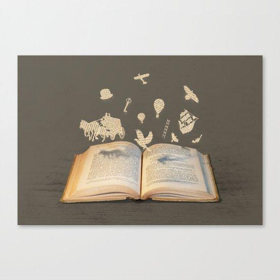 Words Take Flight (on Grey) Canvas Print