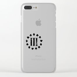 Three Percenter Aces Distressed Clear iPhone Case