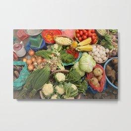 vegetable market Metal Print