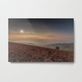 Autumn evening on the Black Mountains Metal Print