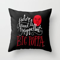 pop Throw Pillows featuring French Poppa by Chris Piascik