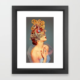 Freud vs Jung Framed Art Print