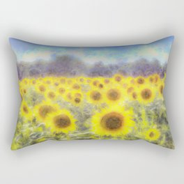 Sunflower Fields Of Dreams Art Rectangular Pillow