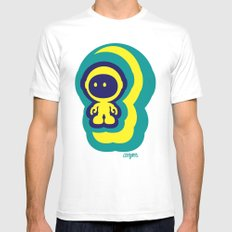 Spaceman 04 Mens Fitted Tee MEDIUM White