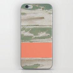 Wood Color Block iPhone & iPod Skin