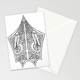 Huia Maori Art Kowhai Flower Stationery Cards
