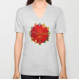 Chinese Zodiac - Year of the Rooster Unisex V-Neck