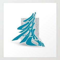 3D GRAFFITI - SKOPE Art Print
