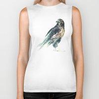 falcon Biker Tanks featuring Falcon by RIZA PEKER