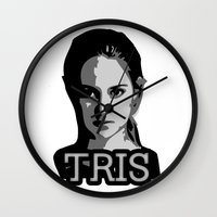 divergent Wall Clocks featuring Divergent: Tris by Flash Goat Industries
