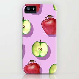 Red Apple, Green Apple iPhone Case