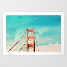 Retro Golden Gate - San Francisco, California Art Print