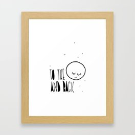 To the moon and back, kids room and nursery deco Framed Art Print