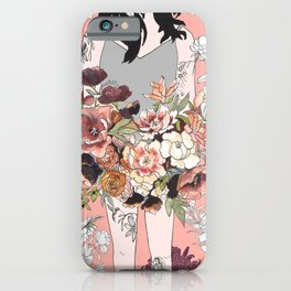 Flower Babe with Tattoos iPhone Case