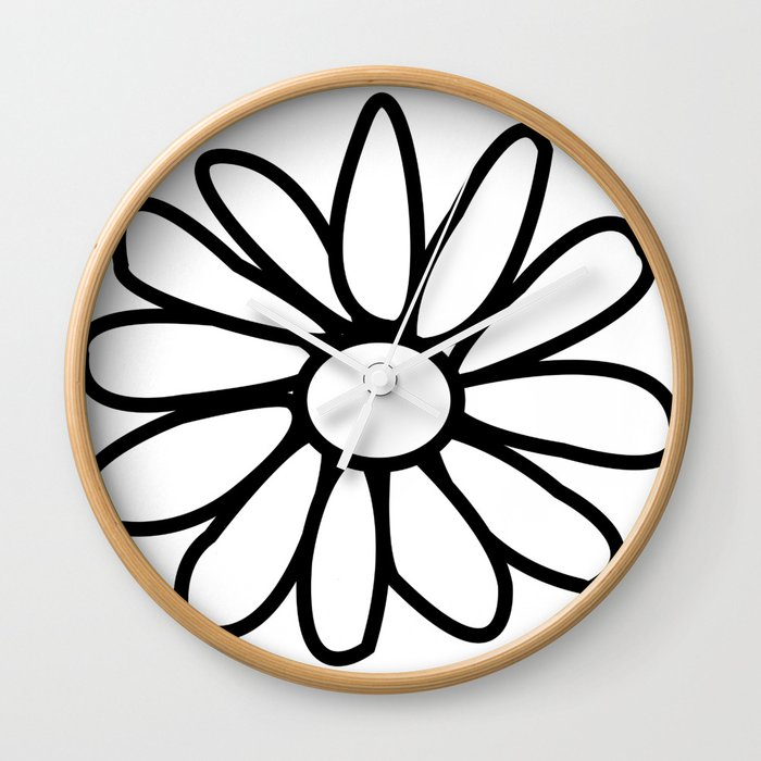Imperfect Daisy Outline Wall Clock