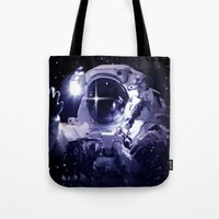 astronaut Tote Bags featuring ASTRONAUT. by capricorn