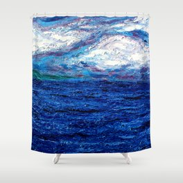 Cotton Candy Ocean Shower Curtain