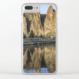 Reflection of Smith Rock in Crooked River Clear iPhone Case