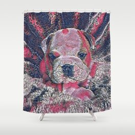 GlitzyAnimal_Dog_010_by_JAMColors Shower Curtain