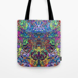 Abstract digital elephant Tote Bag